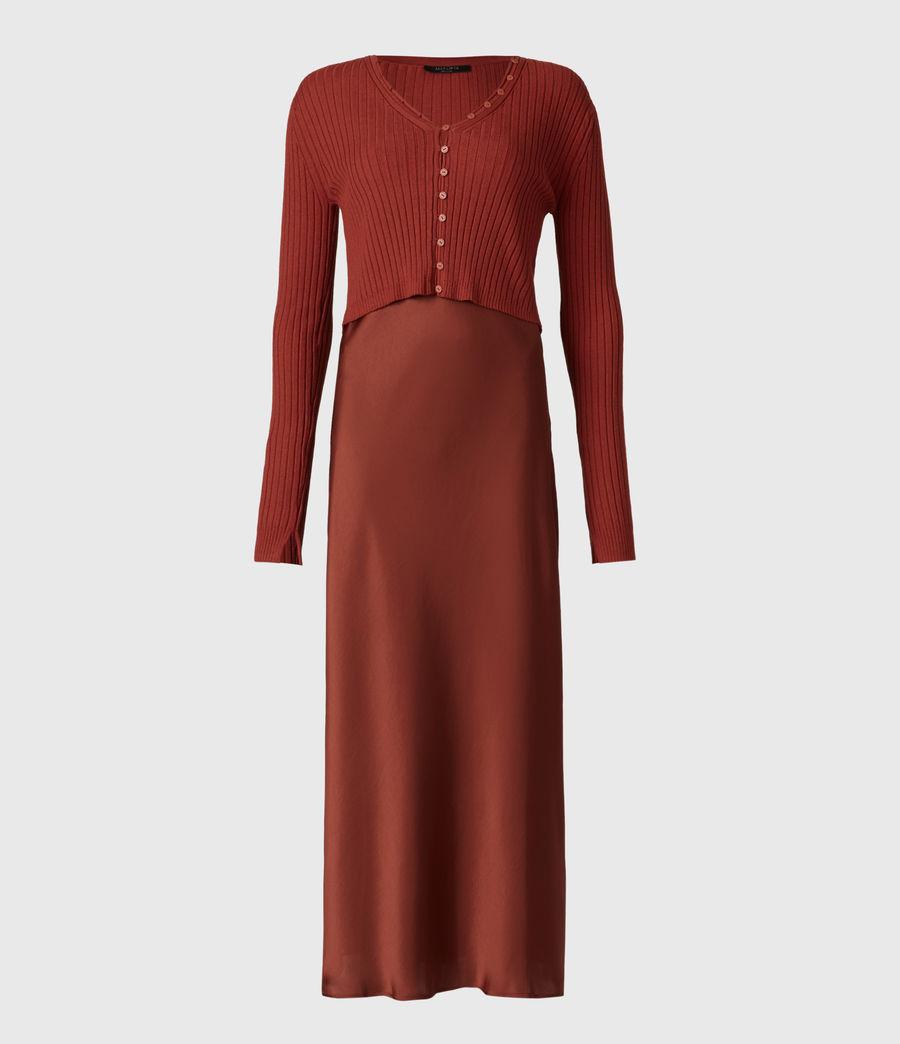 Women's Ondra 2-In-1 Dress (conker_brown) - Image 5