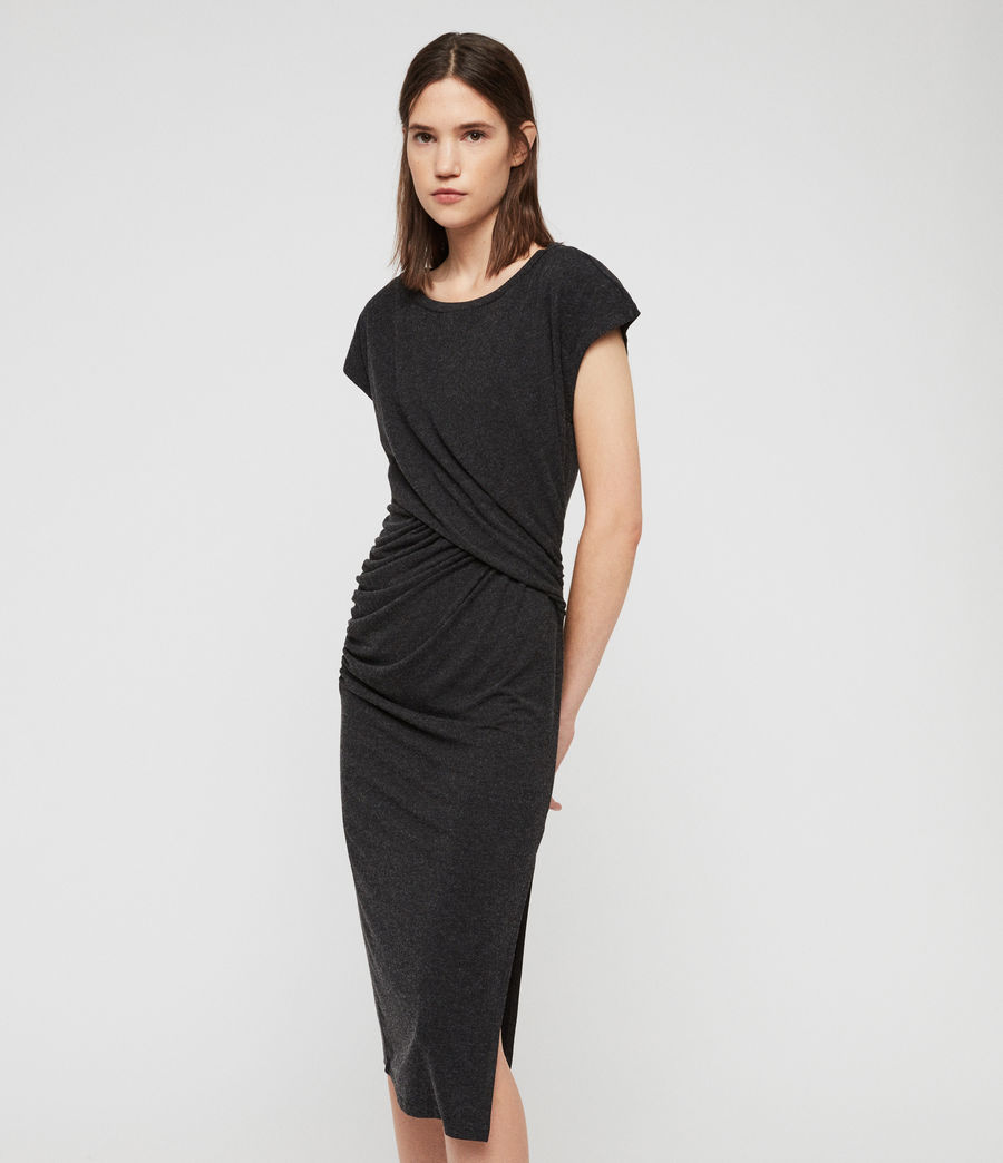 Womens Kasia Dress (charcoal_grey) - Image 1