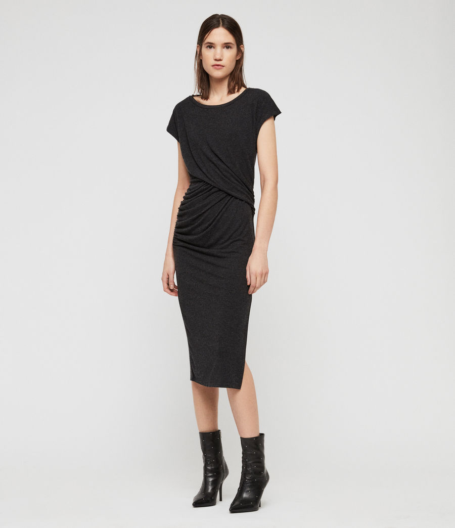 Womens Kasia Dress (charcoal_grey) - Image 3