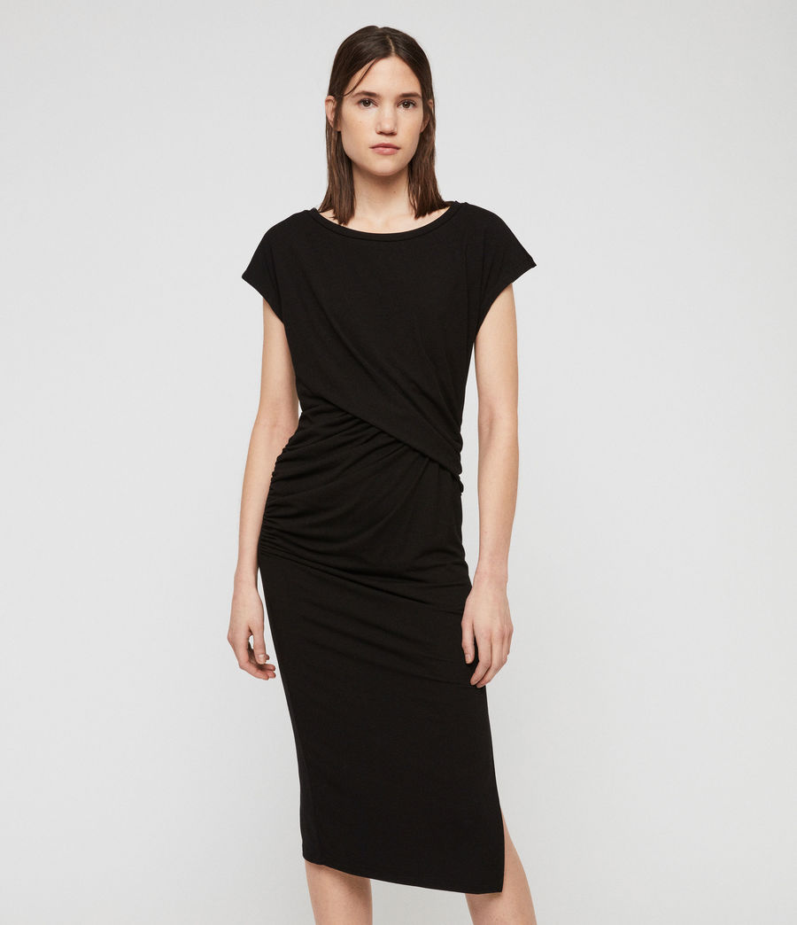 Womens Kasia Dress (black) - Image 1
