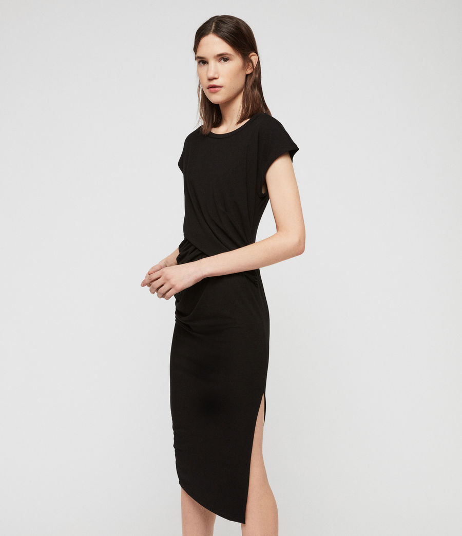 Womens Kasia Dress (black) - Image 2