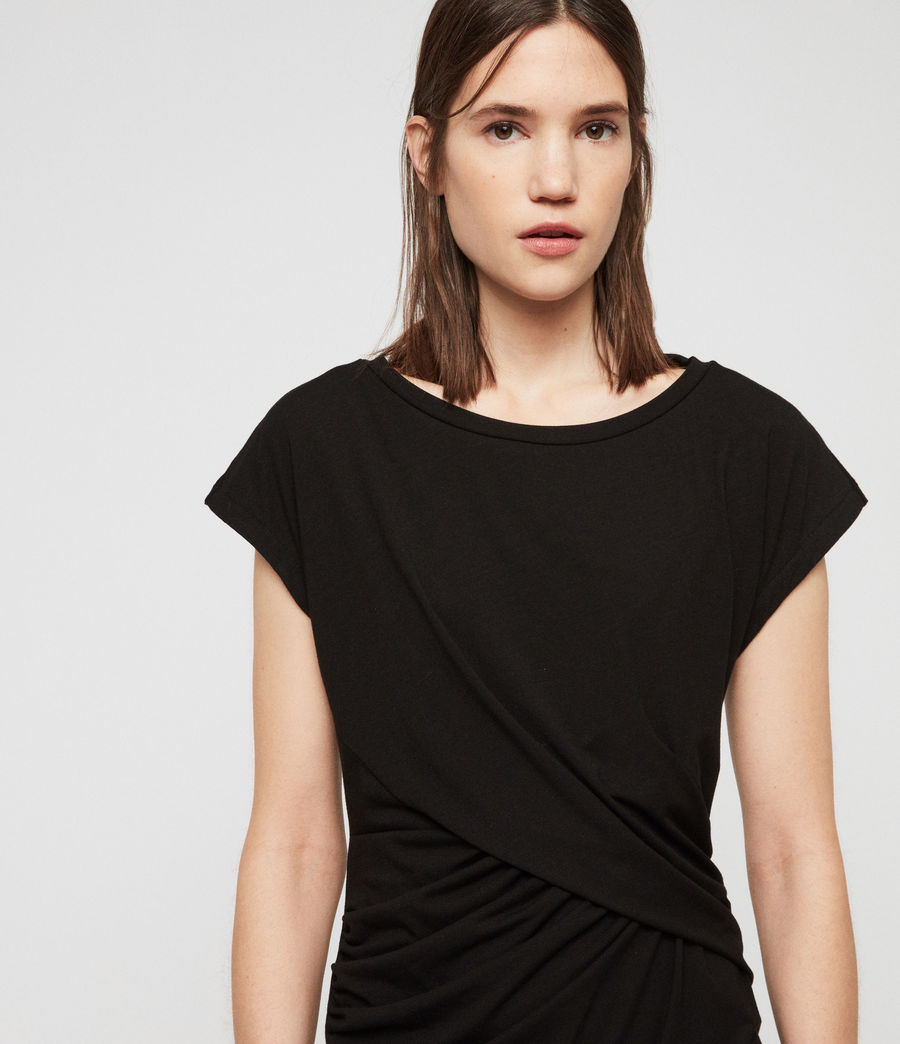 Womens Kasia Dress (black) - Image 4