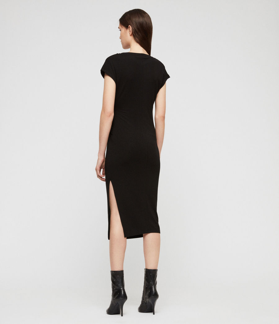 Womens Kasia Dress (black) - Image 5