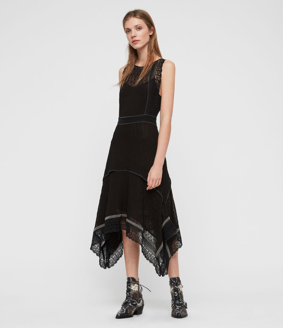 Womens Alicia Lili Dress (black) - Image 1