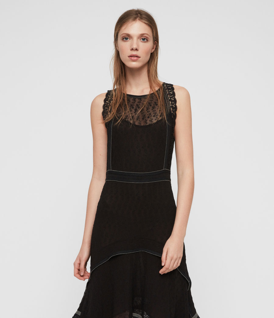 Womens Alicia Lili Dress (black) - Image 2