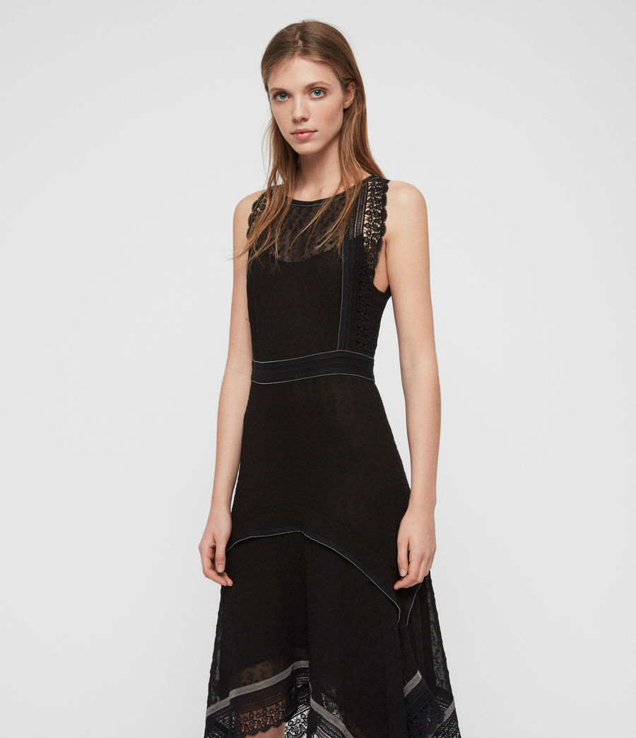 Womens Alicia Lili Dress (black) - Image 4