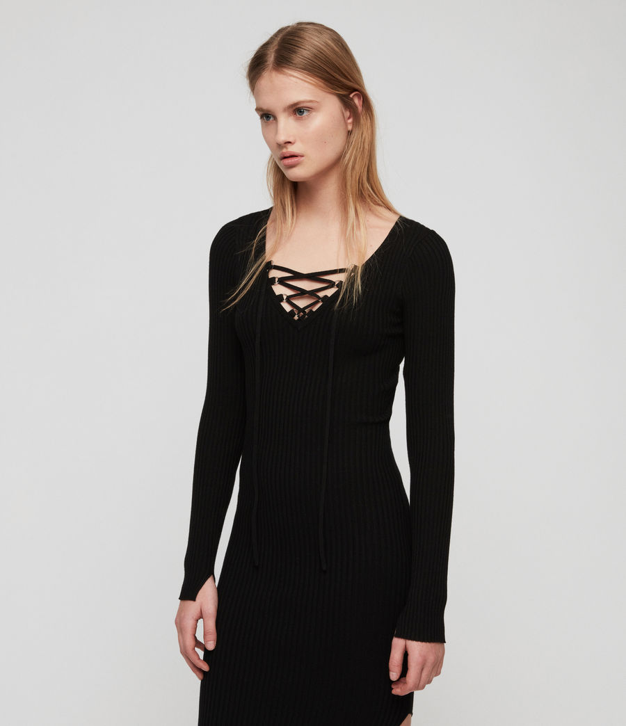 Womens Tamsin Dress (black) - Image 1