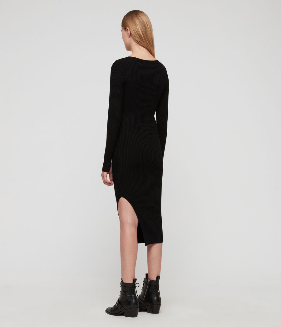 Womens Tamsin Dress (black) - Image 6