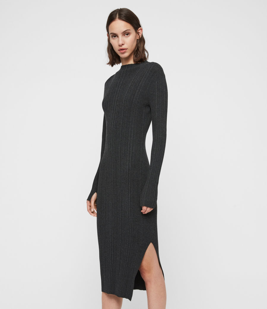 Womens Karla Knit Dress (charcoal_grey) - Image 1
