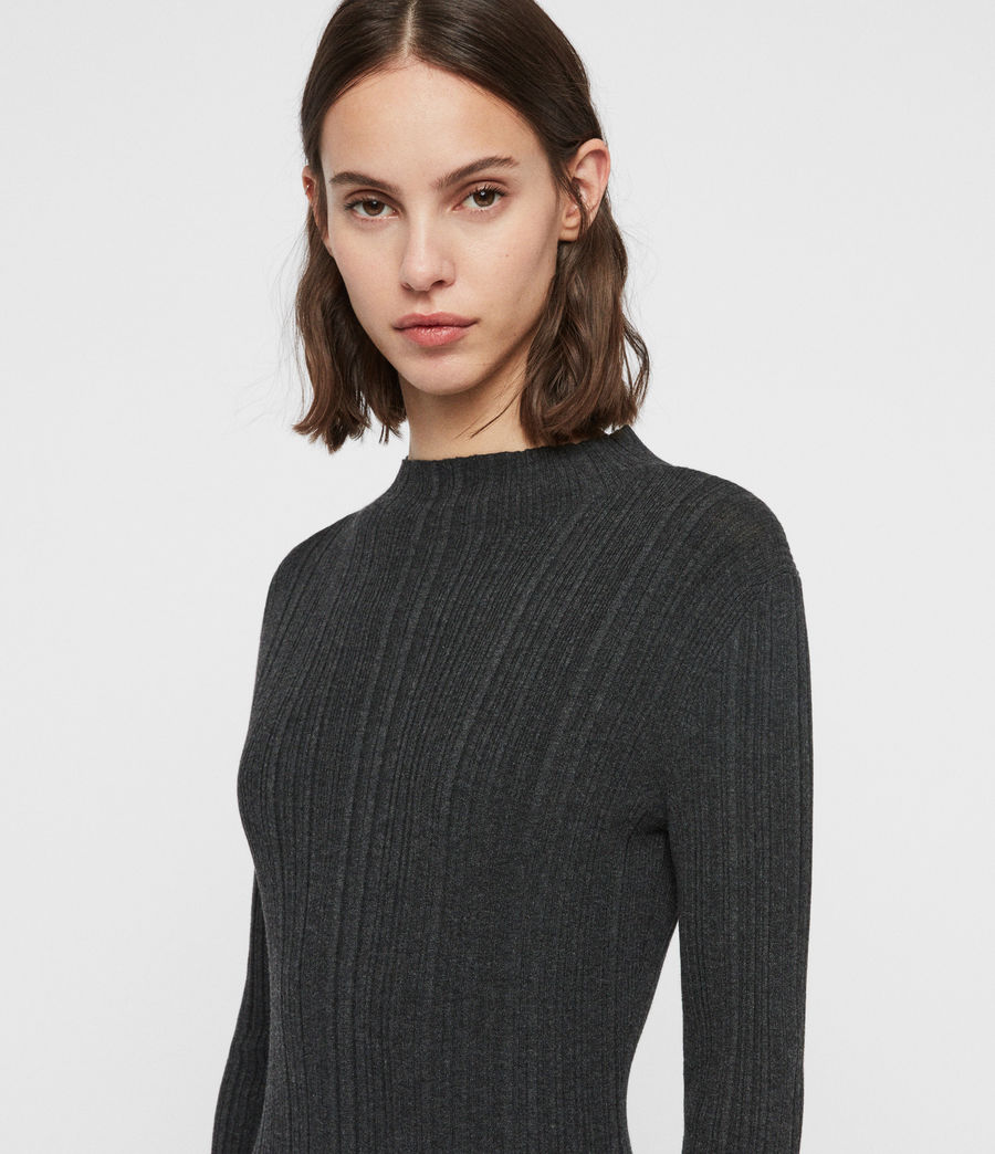 Womens Karla Knit Dress (charcoal_grey) - Image 2