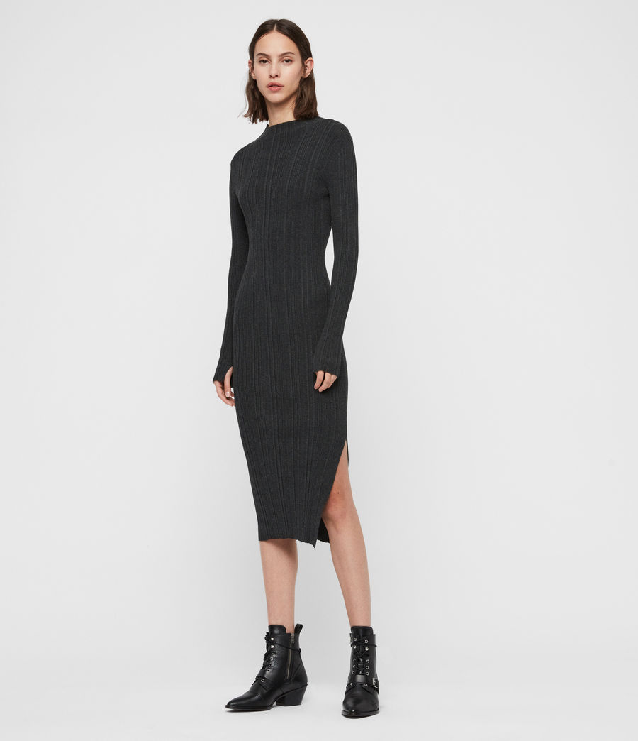 Women's Karla Knit Dress (charcoal_grey) - Image 3