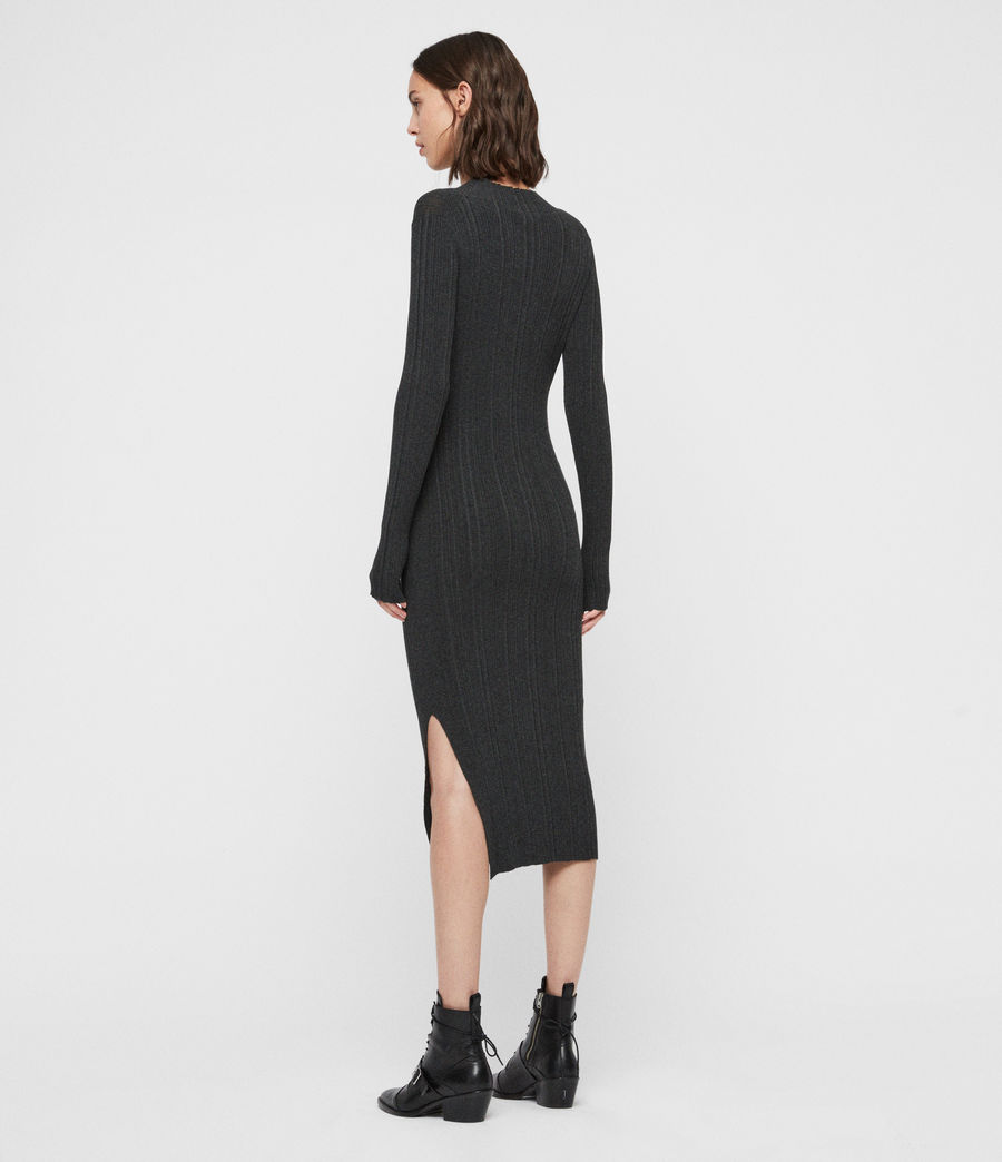 Womens Karla Knit Dress (charcoal_grey) - Image 5