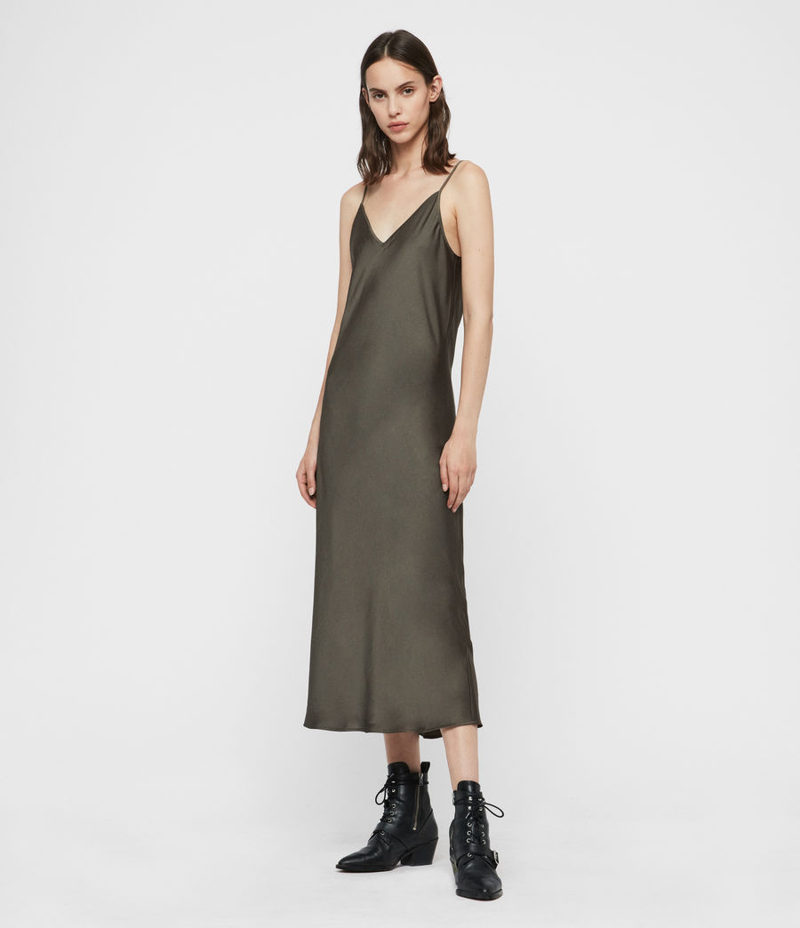 Femmes Robe Tierny (military_green) - Image 2