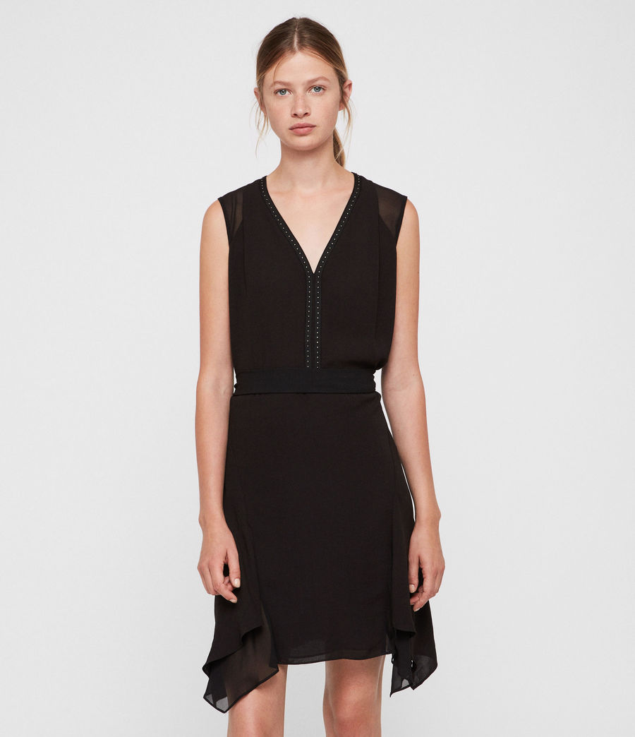 Womens Izara Dress (black) - Image 3