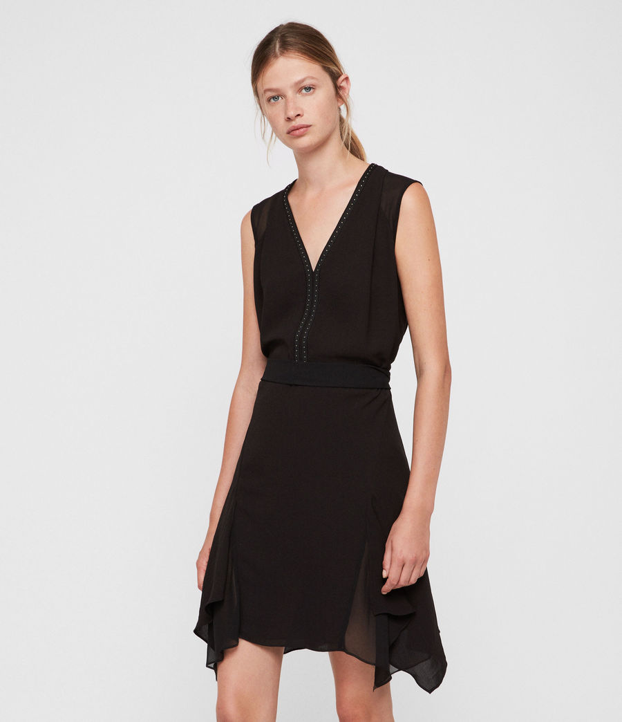 Womens Izara Dress (black) - Image 4