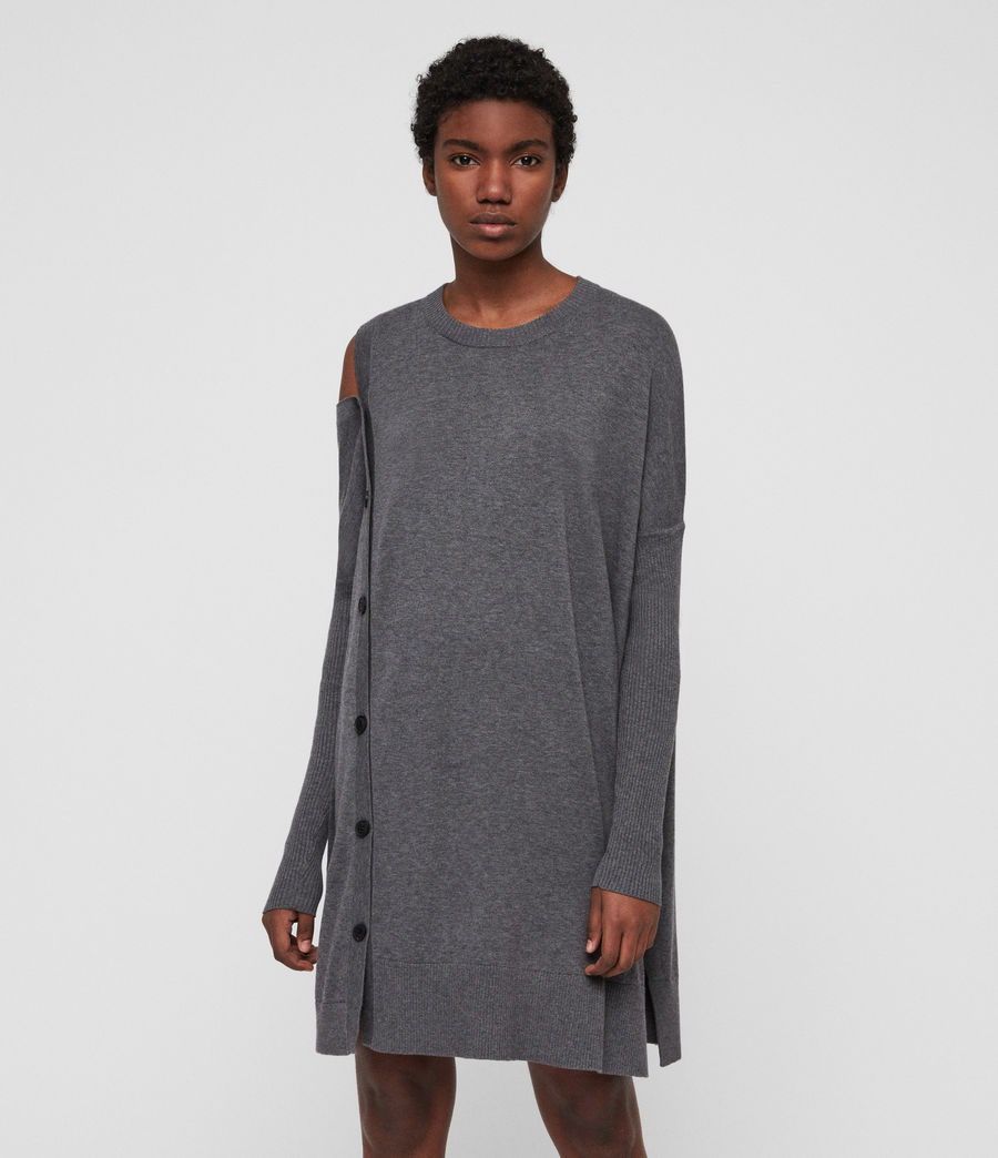 Womens Ria Dress (grey_marl) - Image 1