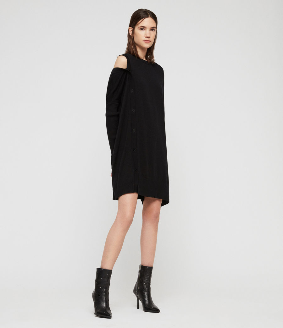 Womens Ria Dress (black) - Image 2