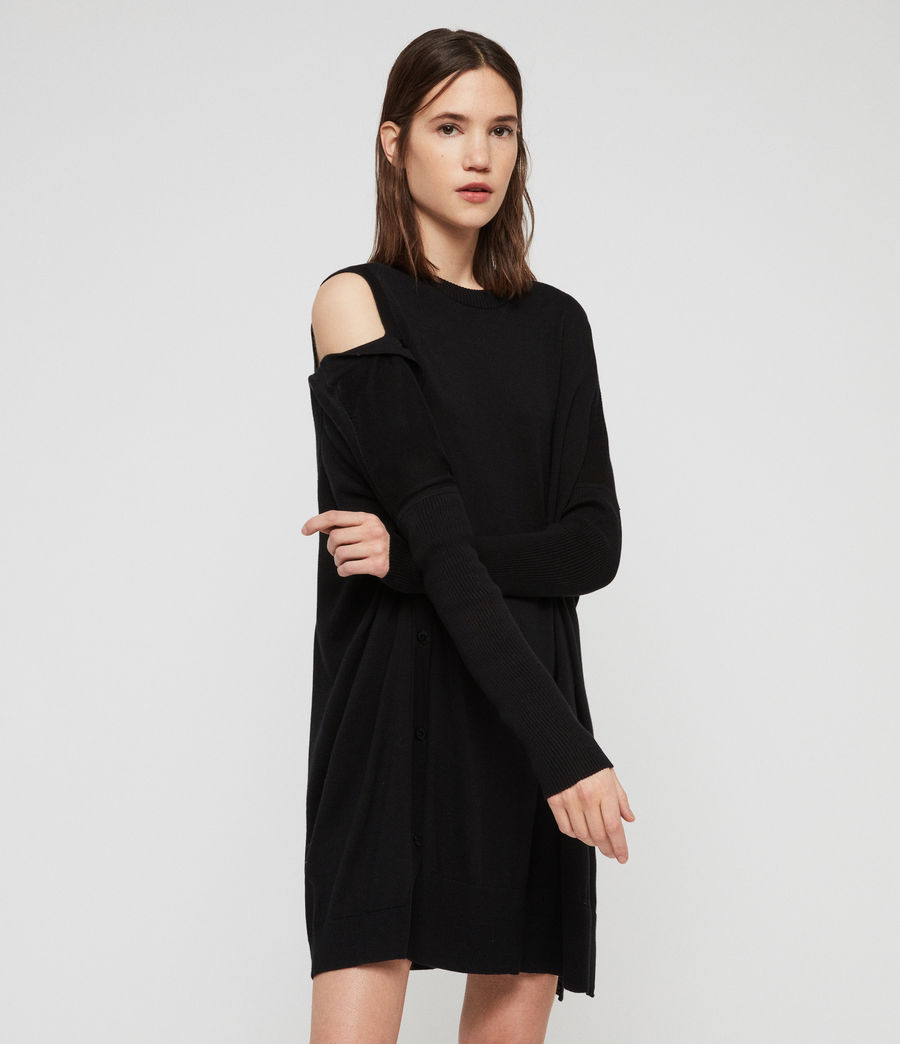 Womens Ria Dress (black) - Image 4