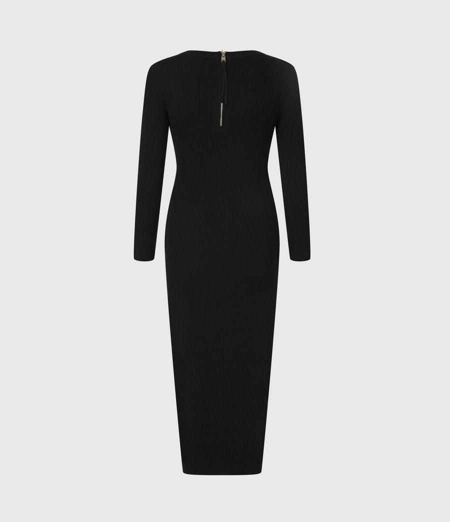 Womens Bardi Rib Dress (black) - Image 3