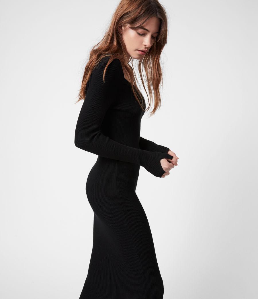 Womens Bardi Rib Dress (black) - Image 4