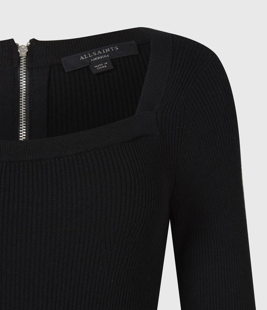 Womens Bardi Rib Dress (black) - Image 5