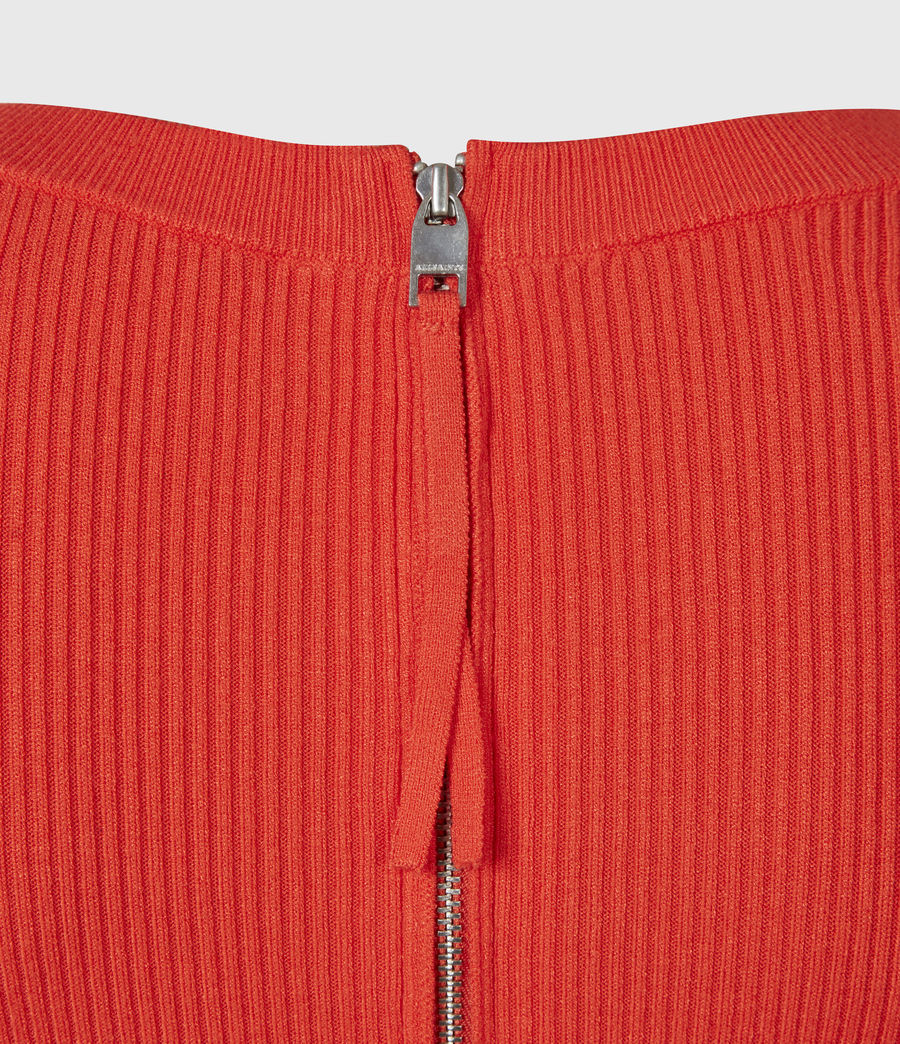 Womens Bardi Rib Dress (flame_red) - Image 6