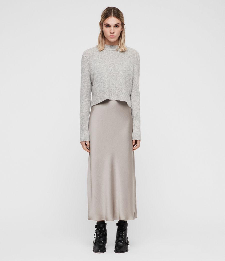 Mujer Vestido con Suéter Tierny (tin_greymarl_pearl) - Image 3