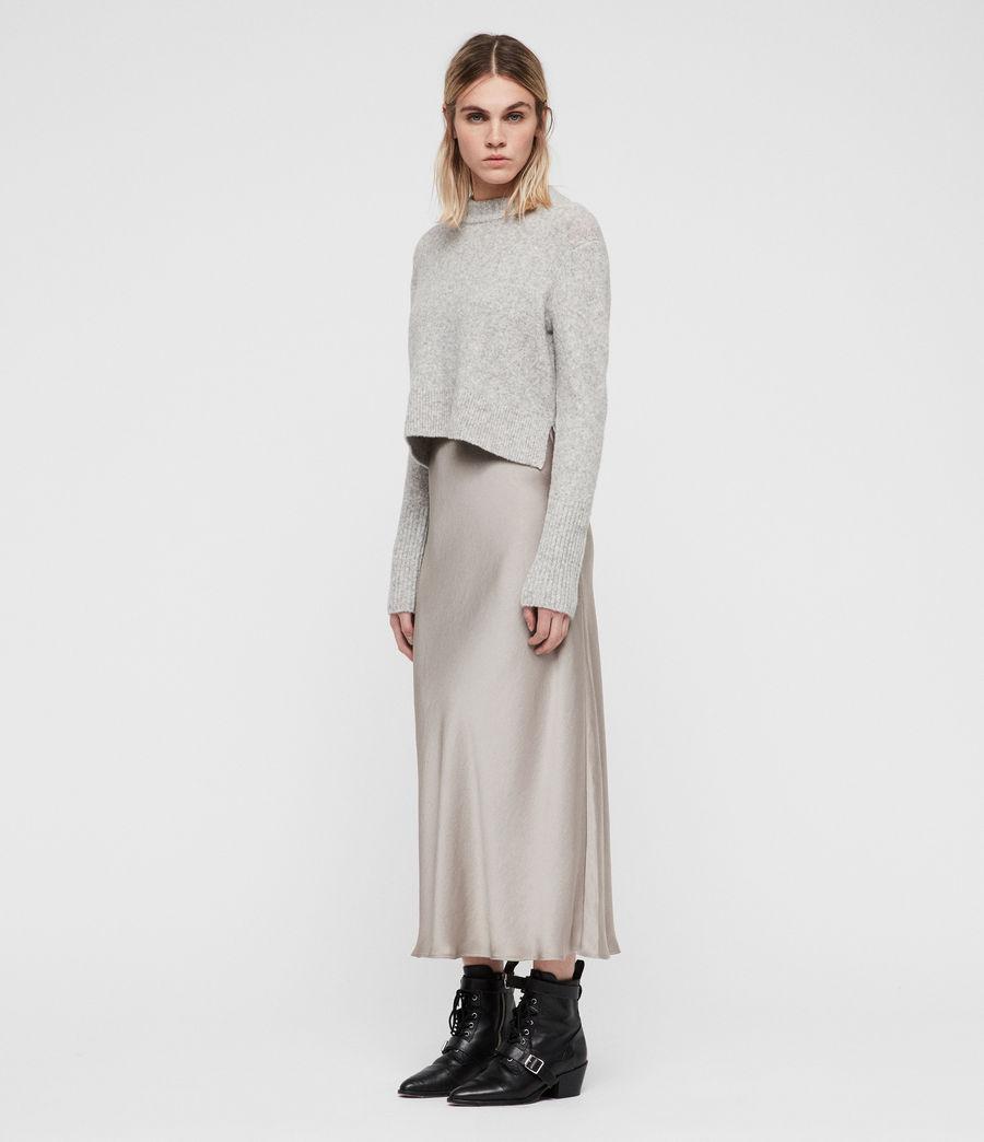 Mujer Vestido con Suéter Tierny (tin_greymarl_pearl) - Image 6