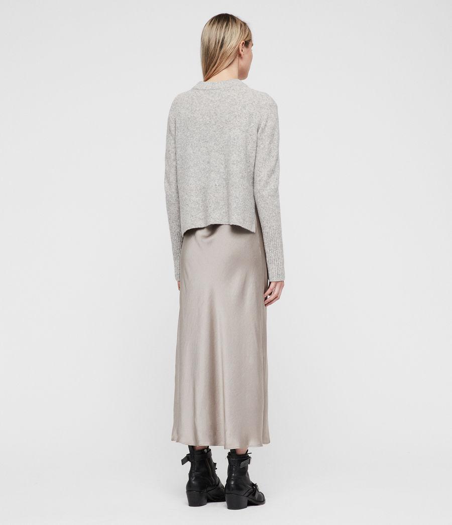 Mujer Vestido con Suéter Tierny (tin_greymarl_pearl) - Image 7