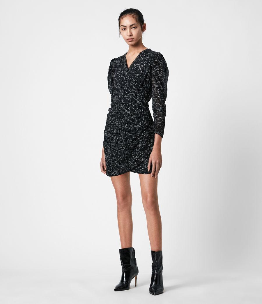 Damen Lucia Dot Kleid (black) - Image 1