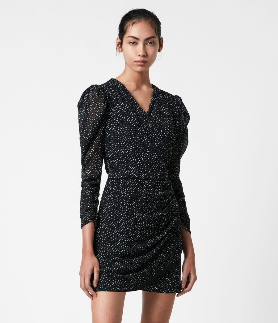 Damen Lucia Dot Kleid (black) - Image 4