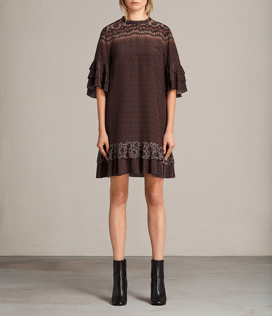 Women's Rayen Anokhi Silk Dress (burgundy) - Image 1