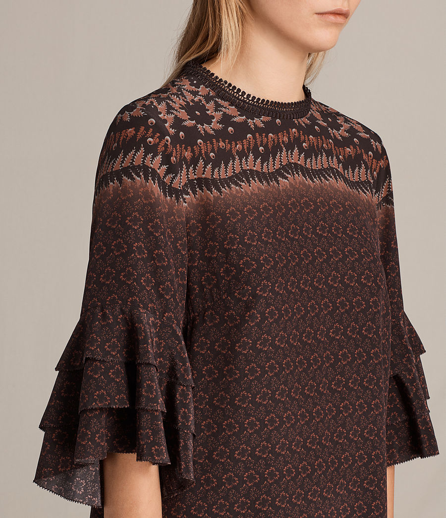 Women's Rayen Anokhi Silk Dress (burgundy) - Image 2