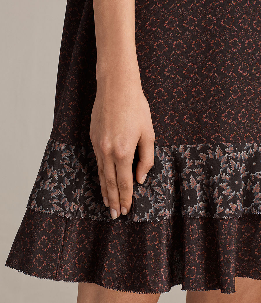 Women's Rayen Anokhi Silk Dress (burgundy) - Image 3