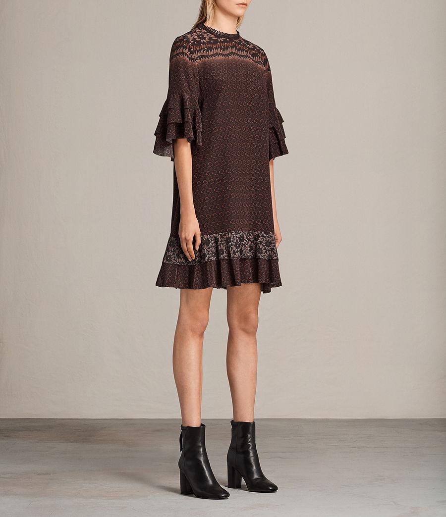 Women's Rayen Anokhi Silk Dress (burgundy) - Image 4
