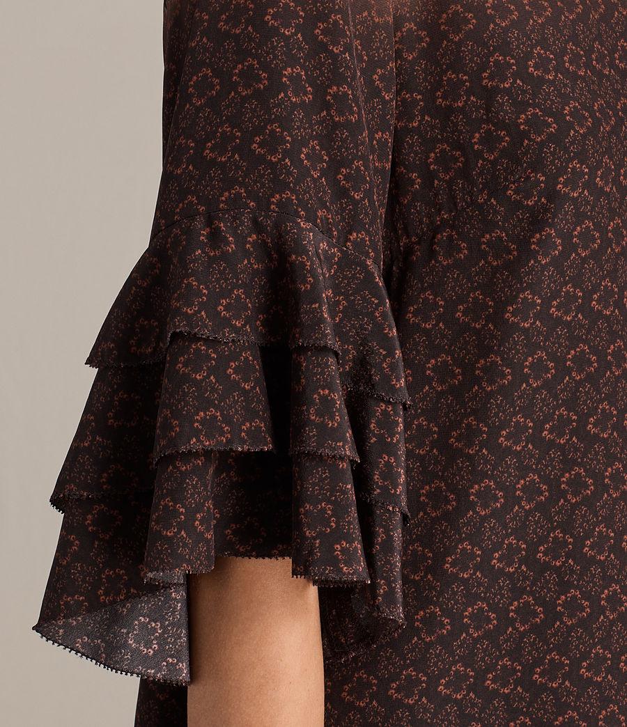 Women's Rayen Anokhi Silk Dress (burgundy) - Image 6