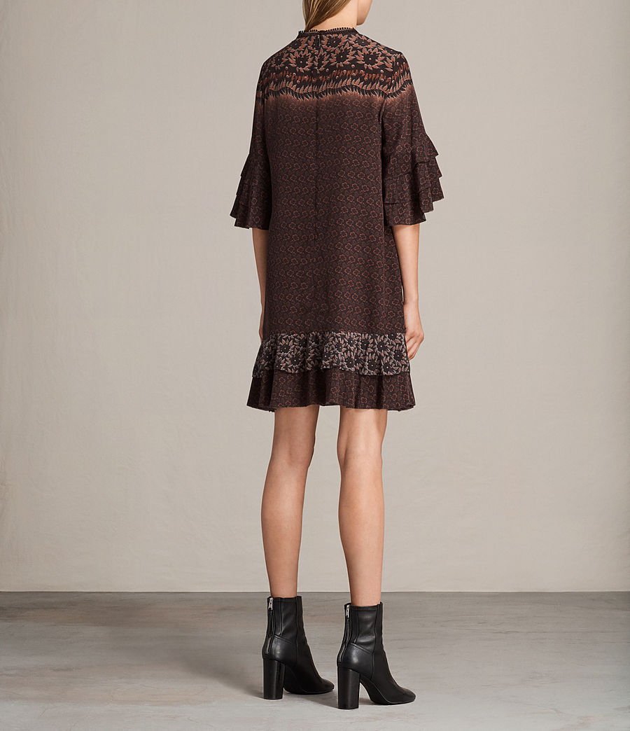 Women's Rayen Anokhi Silk Dress (burgundy) - Image 7