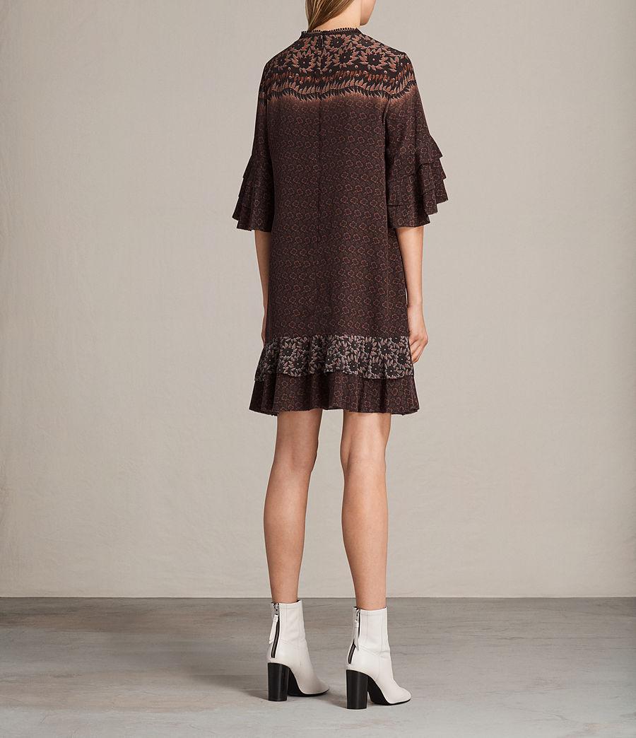 Women's Rayen Anokhi Silk Dress (burgundy) - Image 8