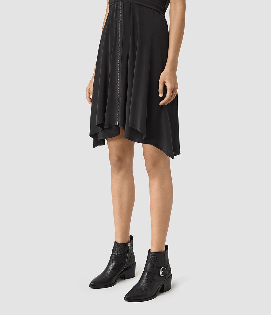 Womens Jayda Silk Dress (black) - Image 3