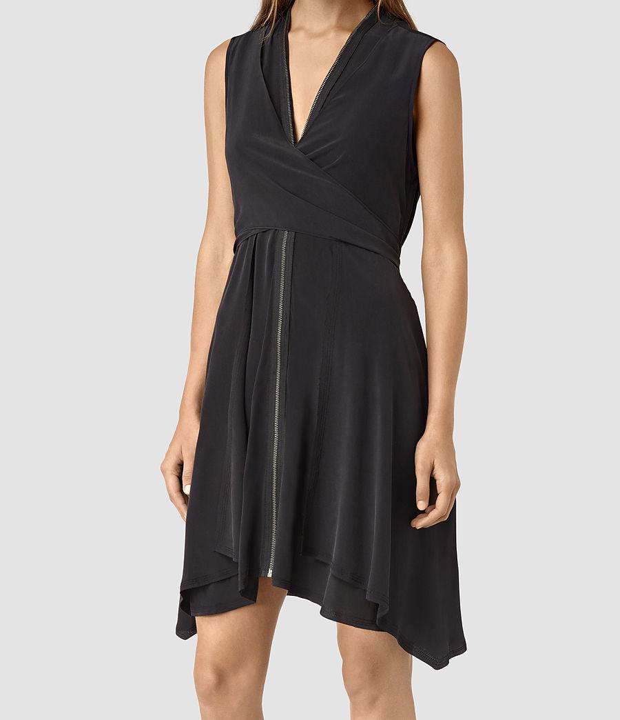 Womens Jayda Silk Dress (black) - Image 5