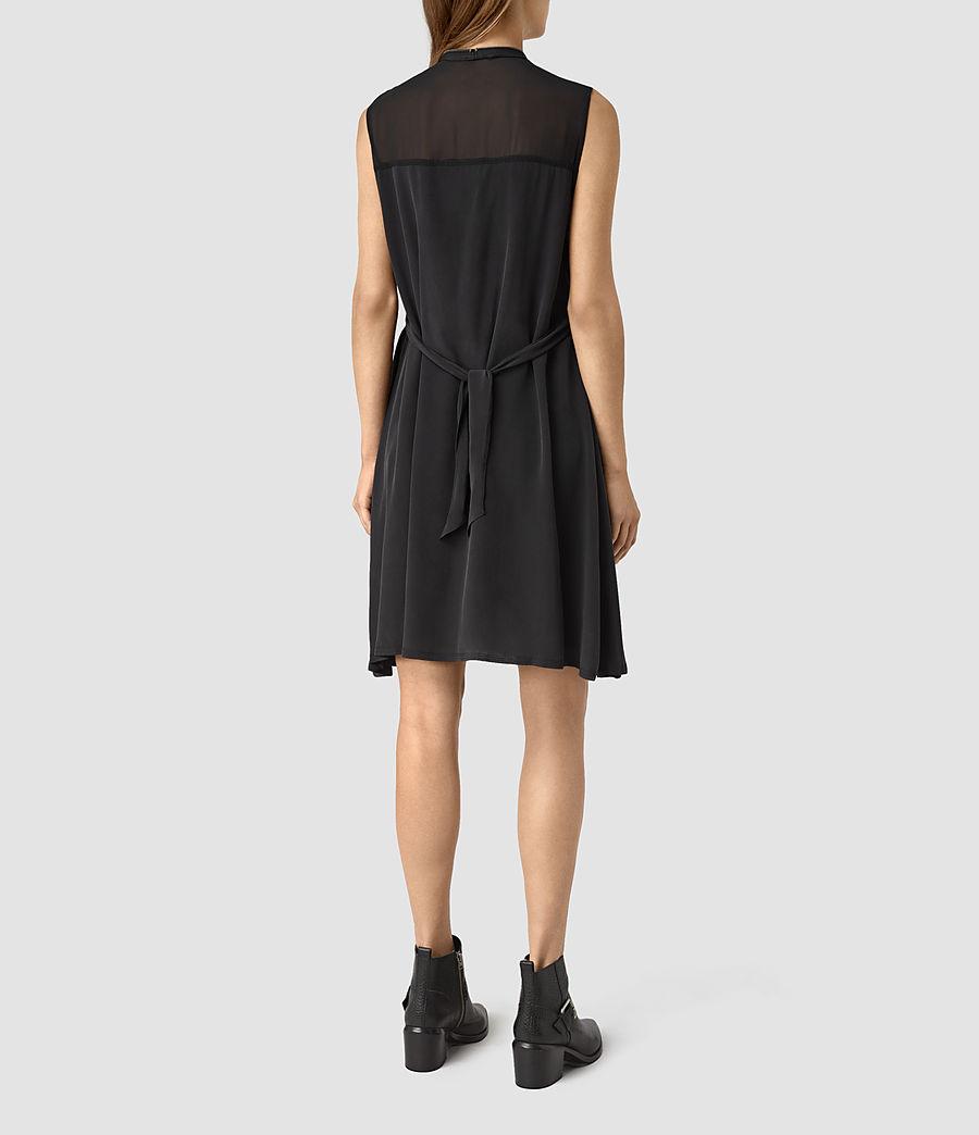 Womens Jayda Silk Dress (black) - Image 6