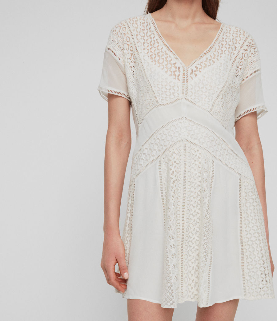 Womens Cindi Lace Dress (oyster_white) - Image 2
