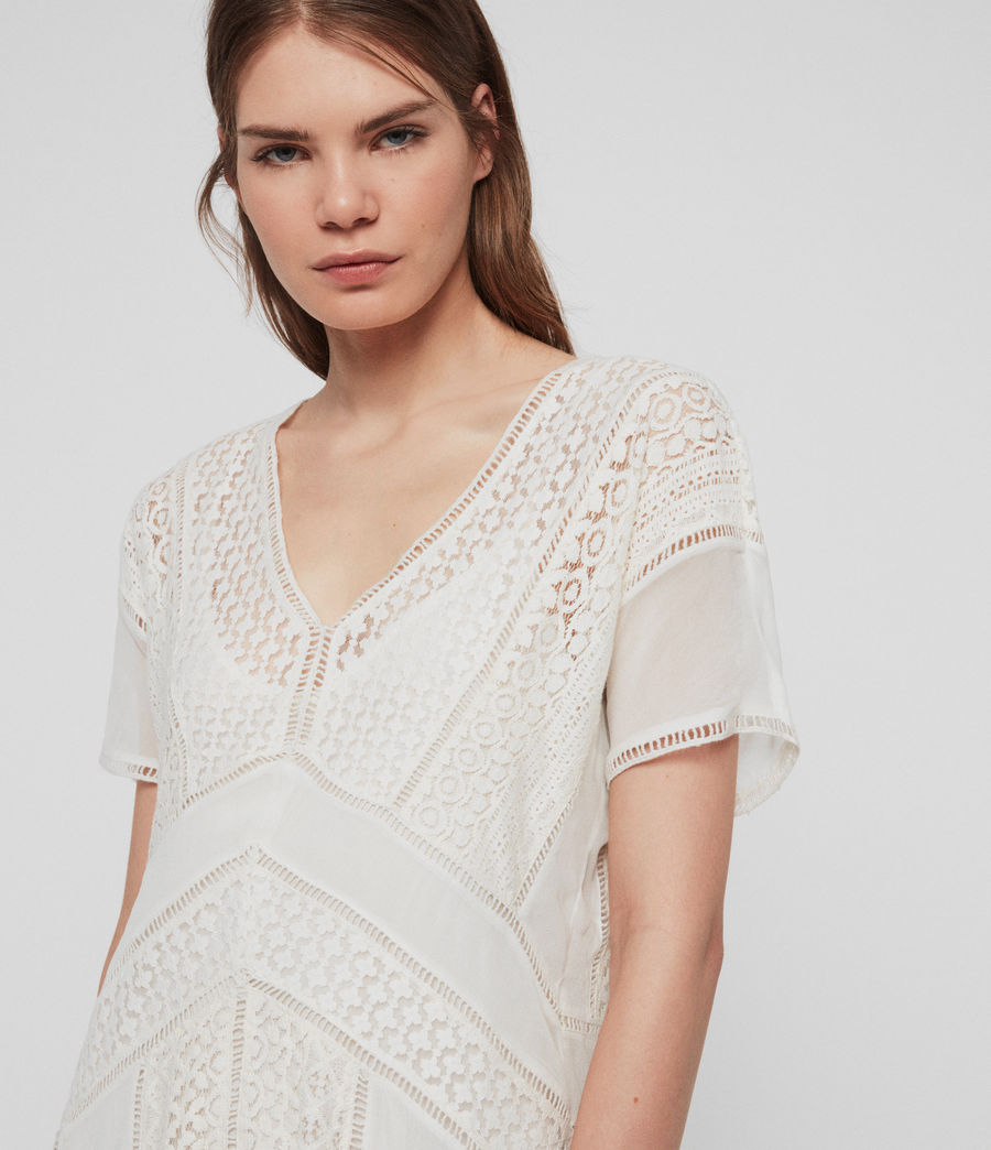 Women's Cindi Lace Dress (oyster_white) - Image 3