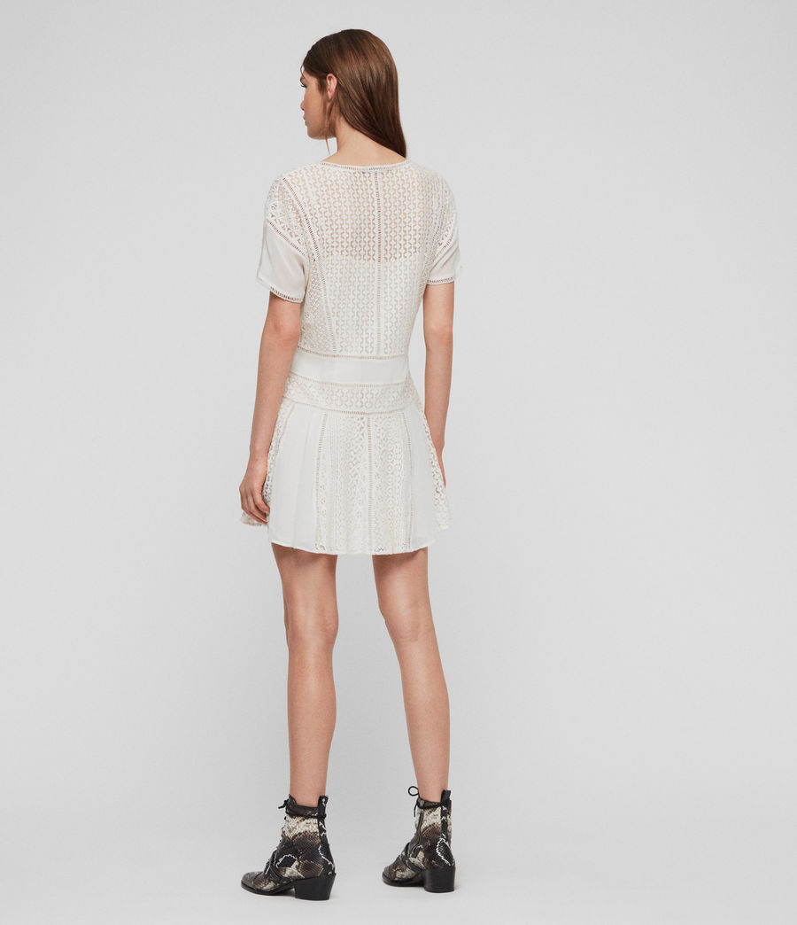 Womens Cindi Lace Dress (oyster_white) - Image 4