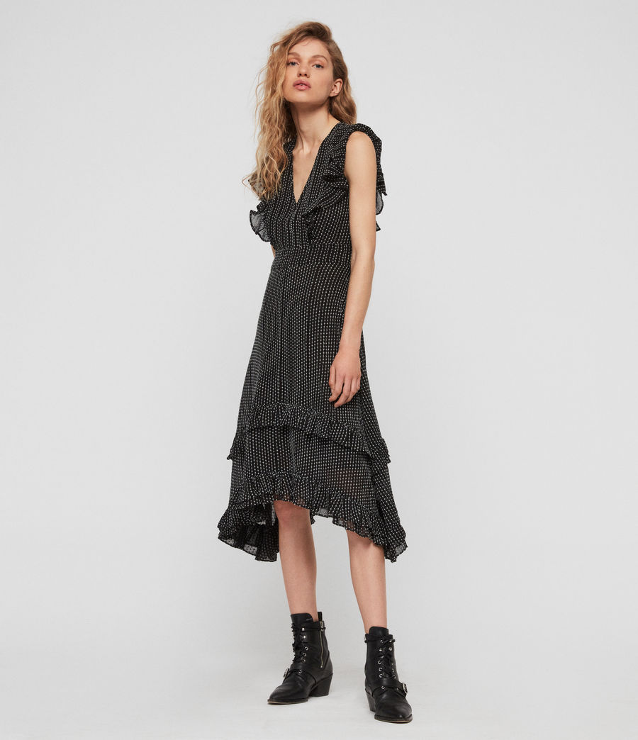 Women's Evia Embroidered Dress (black) - Image 2