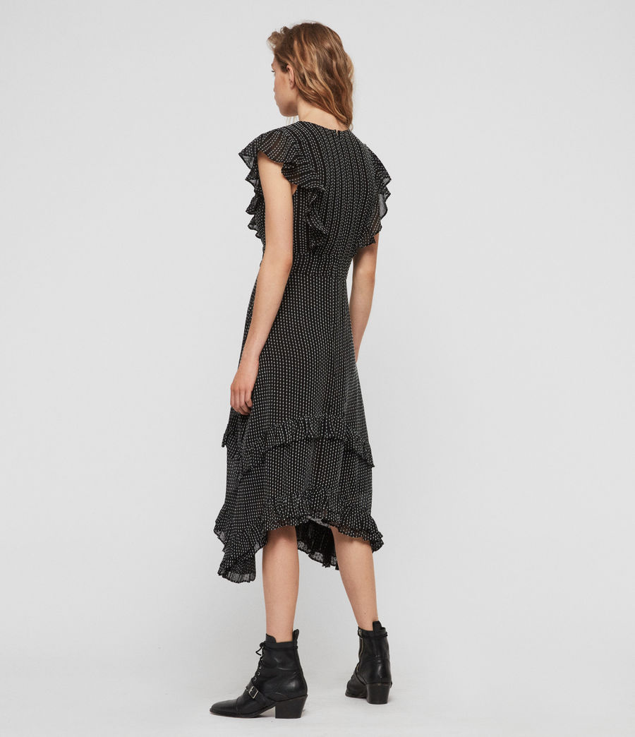 Women's Evia Embroidered Dress (black) - Image 4