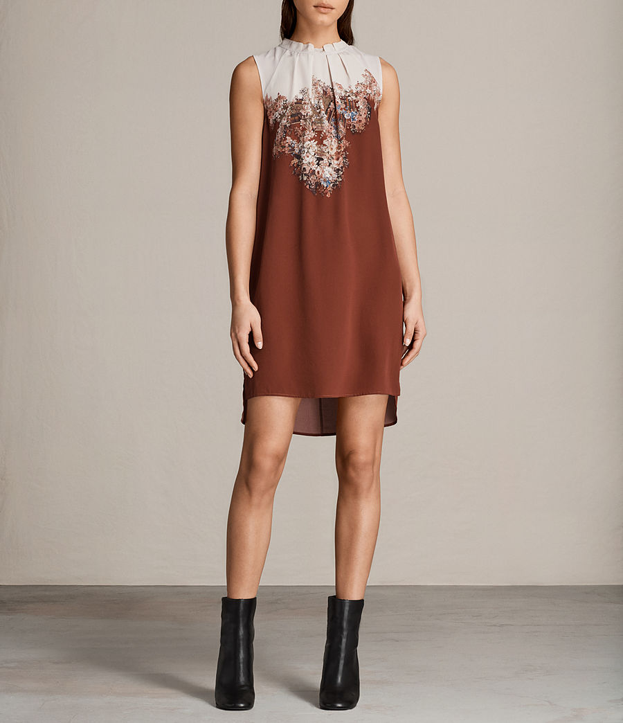Womens Jay Clement Dress (rust) - Image 1