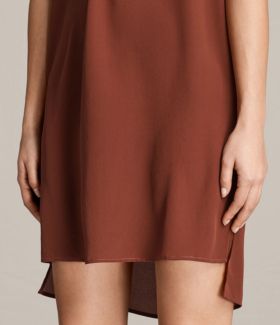 Womens Jay Clement Dress (rust) - Image 3