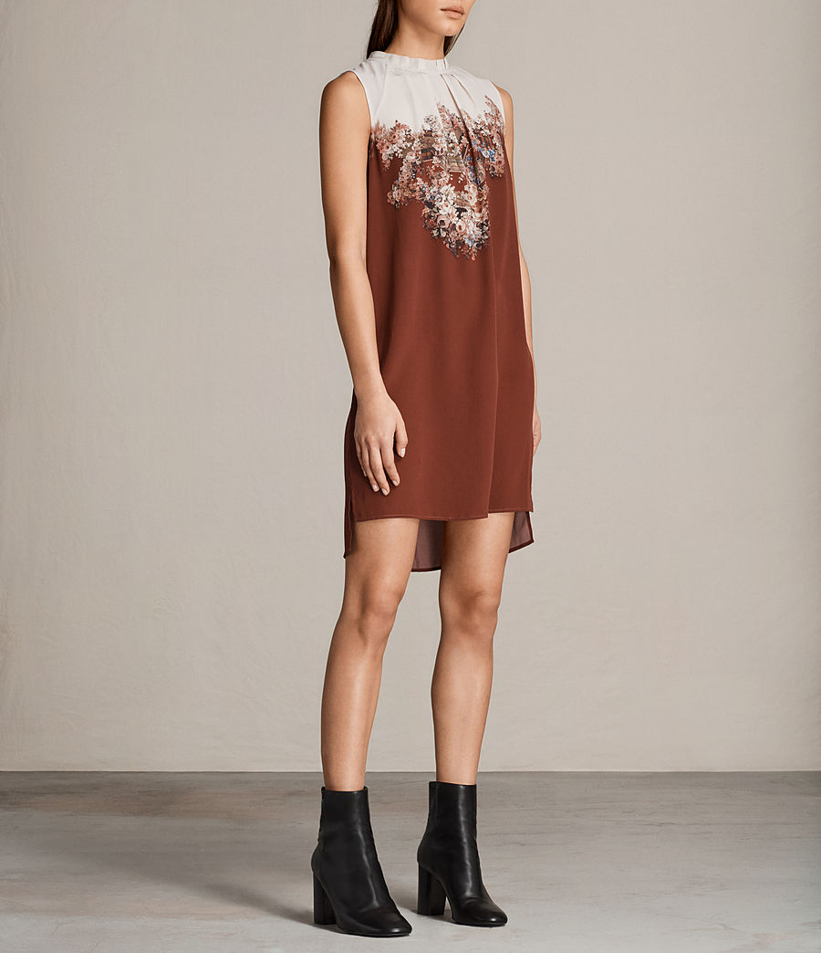 Womens Jay Clement Dress (rust) - Image 4