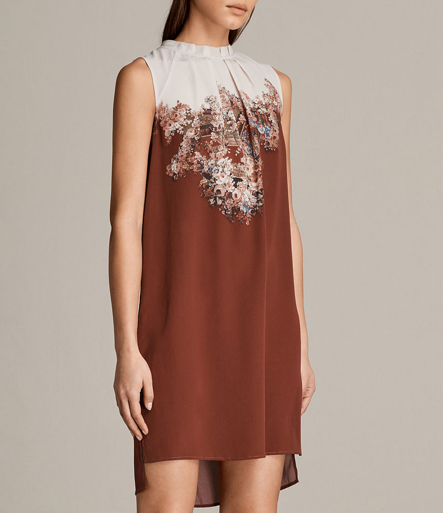 Womens Jay Clement Dress (rust) - Image 5